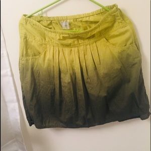 Athleta lime green ombre cotton skirt sz 4